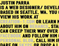 Justin Parra Personal Website