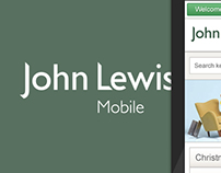 John Lewis mobile site design