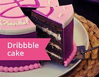 Dribbble cake