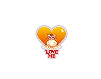 "LOGO ""LOVE ME"""