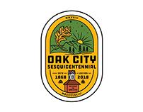 Oak City 150th Anniversary Pin Design