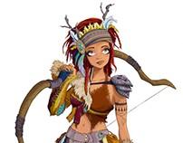 Kira, character design