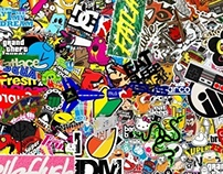 Sticker Bomb HD Wallpaper 1080p Resolution