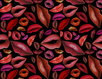 Lips Pattern - Alessa Summer 2010