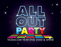 Vodacom All Out Party - Animated Flash Banner