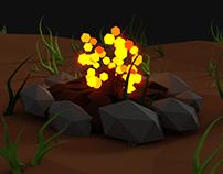 Mushroom Low poly animation
