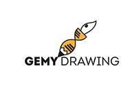 """logo """" GEMY-DRAWING """""""