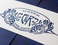 Art Nouveau inspired Lake Tahoe Wedding Invitations