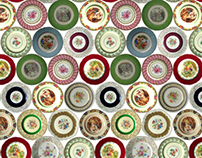 Vintage Plates Pattern - Alessa Summer 2010