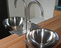 Cantilevered Sink