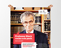 YMCA Deakin 'Professor Black' Campaign