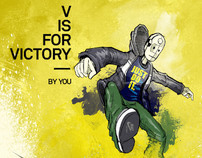 Diseño de cartel The V is for Victory NIKE