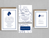 Nautical Map Wedding Invitations | Custom Design
