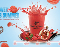Gloria Jean's-Red Power Tea Campaign Site