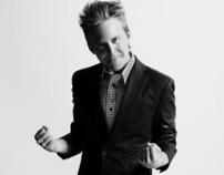 Portraits of Danish television host Huxi Bach