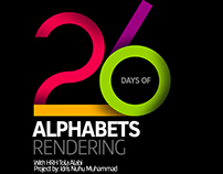 26 DAYS OF CREATING 26 ALPHABETS