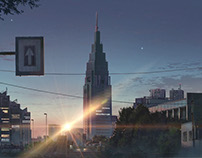"Backgrounds for ""Your Name."""
