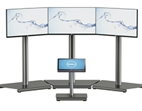 LED TV stands with DELL 27 Inspirion