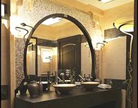 Moroccan Powder room