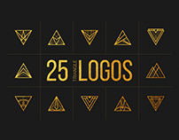 25 Linear Geometric Logos. Part III