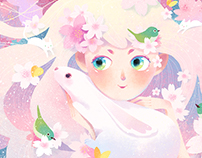 Cherry blossoms fairy