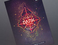 Dark Techno Flyer Template