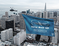 Aerial Advertising Helicopters - PSD