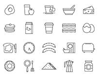 20 Breakfast Vector Icons
