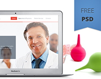 Medical website template. Free PSD.