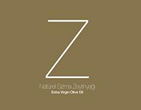 Z Natürel Sızma Zeytinyağı ambalaj tasarımı