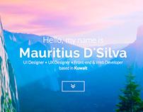 Mauritius DSilva - Portfolio Website