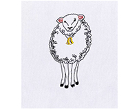 FUZZY AND ENDEARING SHEEP EMBROIDERY DESIGN