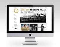 Webdesign & Webcode |ON / OFF festival