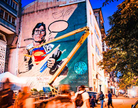 Mural Superman