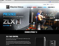 Pro Audio Product Microsite