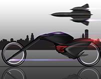 black bird bike - hubless bike concept