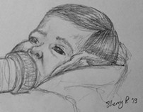 Nephew Life Drawing
