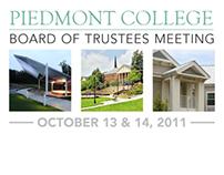 2011 Board of Trustees Binder Cover - Piedmont College