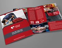 First Aid Brochure Bi-Fold Template