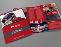 First Aid Brochure Bi-Fold Template