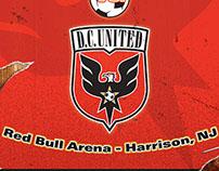 DC United vs Red Bull Match Poster - Fan Art