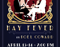 Hay Fever Play Poster