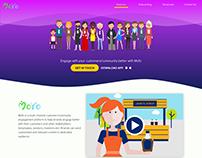 MoYo - Engagement Platform Landing Page