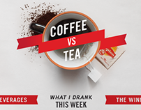 Coffee v.s. Tea Infographic