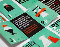 Typeface Specimen Cards + Typeface Frontier