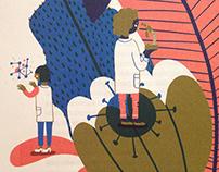 Ilustração Cientistas Poderosas