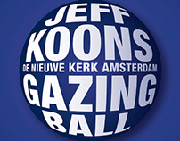 Jeff Koons, Gazing Ball Identity Exhibition campaign
