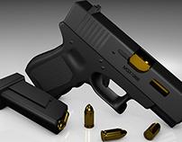 3D Glock 19 Model