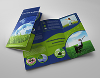 Environment ECO Tri-Fold Brochure Template Vol.2