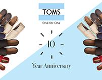 TOMS 10th Anniversary Art